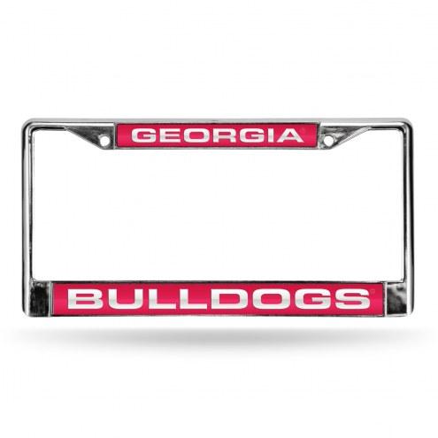 Georgia Bulldogs Laser Chrome License Plate Frame