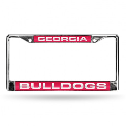 Georgia Bulldogs Laser Chrome License Plate Frame