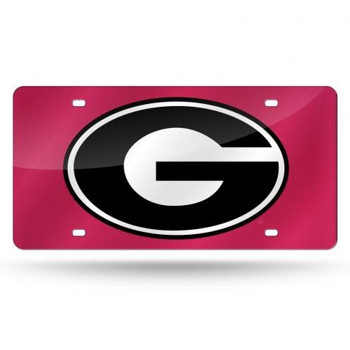 Georgia Bulldogs Laser Cut License Plate