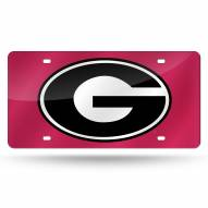 Georgia Bulldogs Laser Cut License Plate