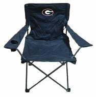 Georgia Bulldogs Rivalry Black Folding Chair