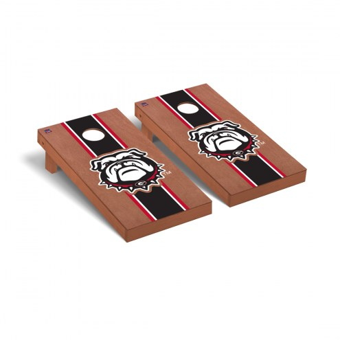 Georgia Bulldogs Rosewood Stained II Cornhole Game Set