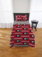 Georgia Bulldogs Rotary Twin Bed in a Bag Set