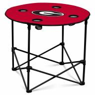 Georgia Bulldogs Round Folding Table