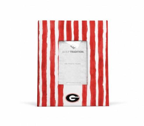 Georgia Bulldogs School Stripes Picture Frame