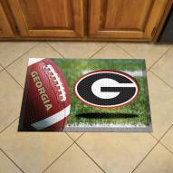 Georgia Bulldogs Scraper Door Mat