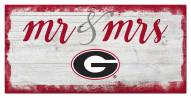 Georgia Bulldogs Script Mr. & Mrs. Sign