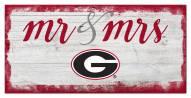 Georgia Bulldogs Script Mr. & Mrs. Sign
