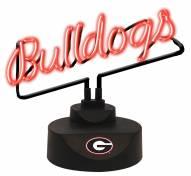 Georgia Bulldogs Script Neon Desk Lamp