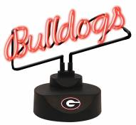 Georgia Bulldogs Script Neon Desk Lamp