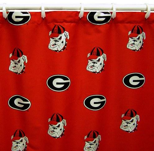 Georgia Bulldogs Shower Curtain