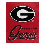 Georgia Bulldogs Signature Raschel Throw Blanket