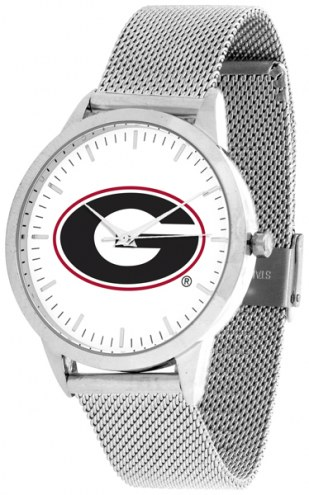 Georgia Bulldogs Silver Mesh Statement Watch