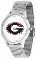 Georgia Bulldogs Silver Mesh Statement Watch