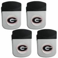Georgia Bulldogs 4 Pack Chip Clip Magnet with Bottle Opener