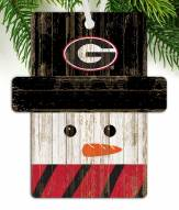 Georgia Bulldogs Snowman Ornament