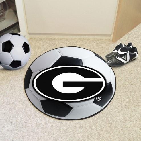 Georgia Bulldogs Soccer Ball Mat