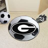 Georgia Bulldogs Soccer Ball Mat