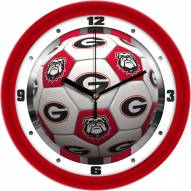 Georgia Bulldogs Soccer Wall Clock