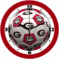 Georgia Bulldogs Soccer Wall Clock