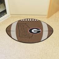 Georgia Bulldogs Southern Style Football Floor Mat