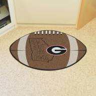 Georgia Bulldogs Southern Style Football Floor Mat