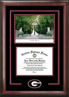 Georgia Bulldogs Spirit Diploma Frame with Campus Image
