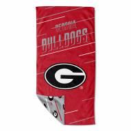 Georgia Bulldogs Splitter Beach Towel