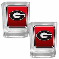 Georgia Bulldogs Square Glass Shot Glass Set