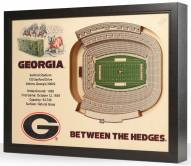 Georgia Bulldogs 25-Layer StadiumViews 3D Wall Art
