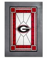 Georgia Bulldogs Stained Glass with Frame