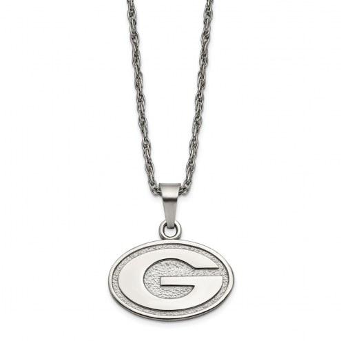 Georgia Bulldogs Stainless Steel Pendant Necklace