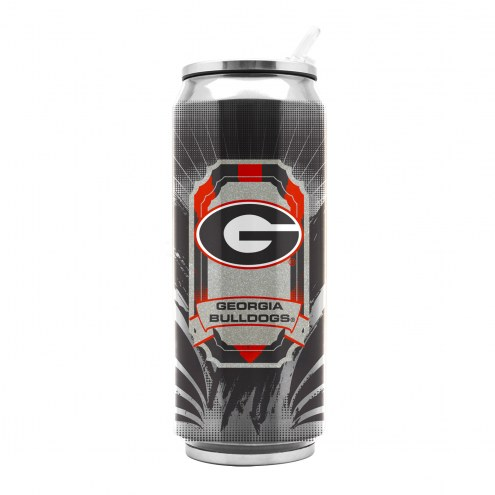 Georgia Bulldogs Stainless Steel Thermo Can