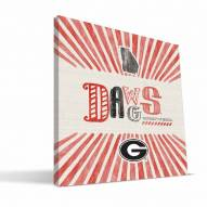 Georgia Bulldogs State Canvas Print