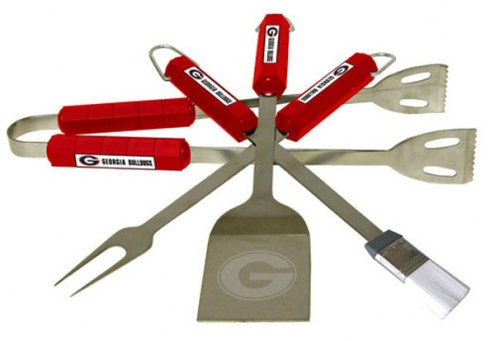 Georgia Bulldogs NCAA 4-Piece Stainless Steel BBQ Set