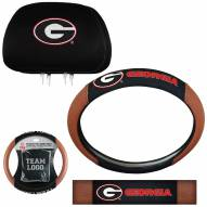 Georgia Bulldogs Steering Wheel & Headrest Cover Set