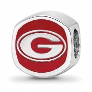 Georgia Bulldogs Sterling Silver Logo Bead