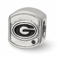 Georgia Bulldogs Sterling Silver Team Bead