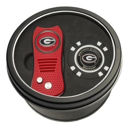 Georgia Bulldogs Switchfix Golf Divot Tool & Chip