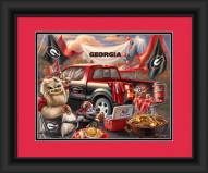 Georgia Bulldogs Tailgate Framed Print