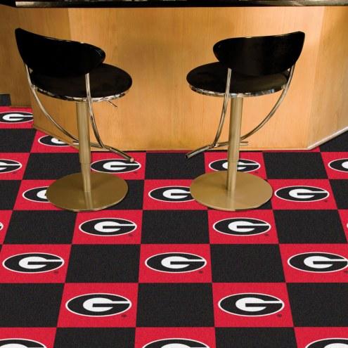 Georgia Bulldogs Team Carpet Tiles