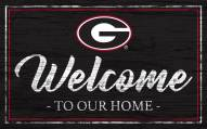 Georgia Bulldogs Team Color Welcome Sign