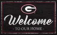 Georgia Bulldogs Team Color Welcome Sign