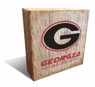 Georgia Bulldogs Team Logo Block
