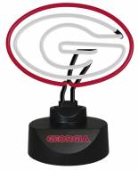 Georgia Bulldogs Team Logo Neon Lamp