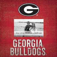 "Georgia Bulldogs Team Name 10"" x 10"" Picture Frame"