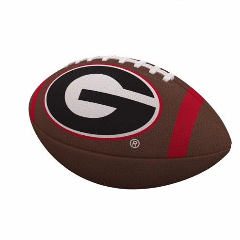 Georgia Bulldogs Team Stripe Official Size Composite Football