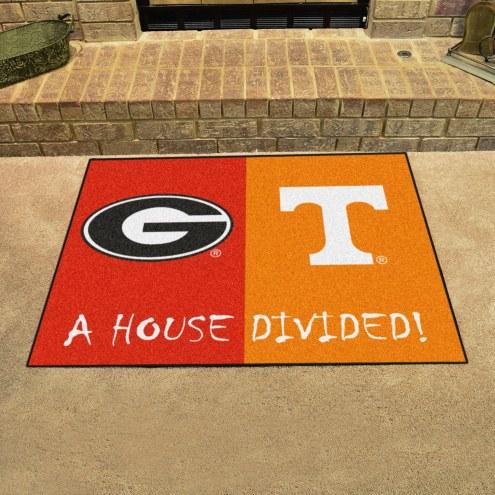 Georgia Bulldogs/Tennessee Volunteers House Divided Mat