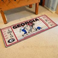 Georgia Bulldogs Ticket Runner Rug