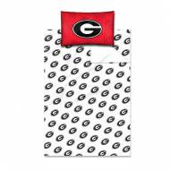 Georgia Bulldogs Twin Bed Sheets